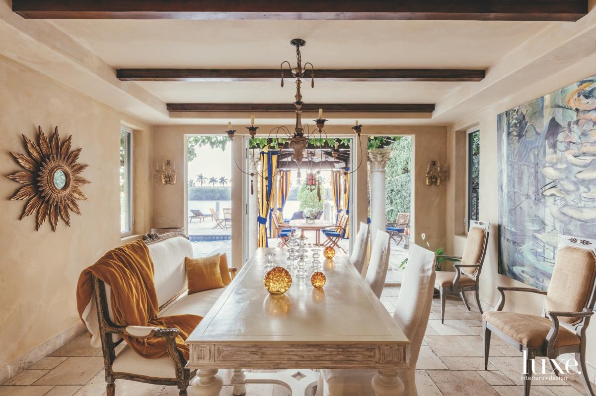 mediterranean dining room neutral amber...