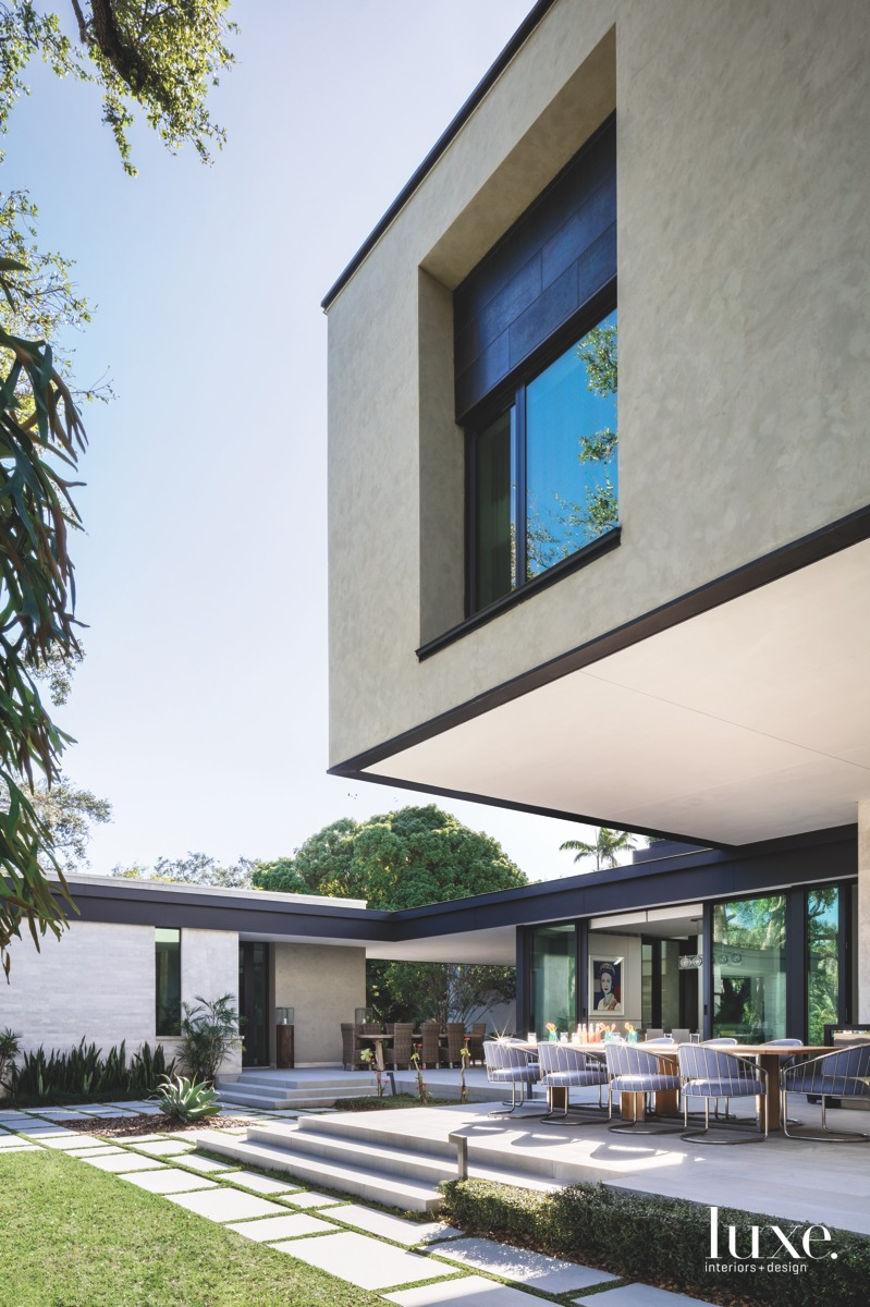 modern modern exterior and dining...