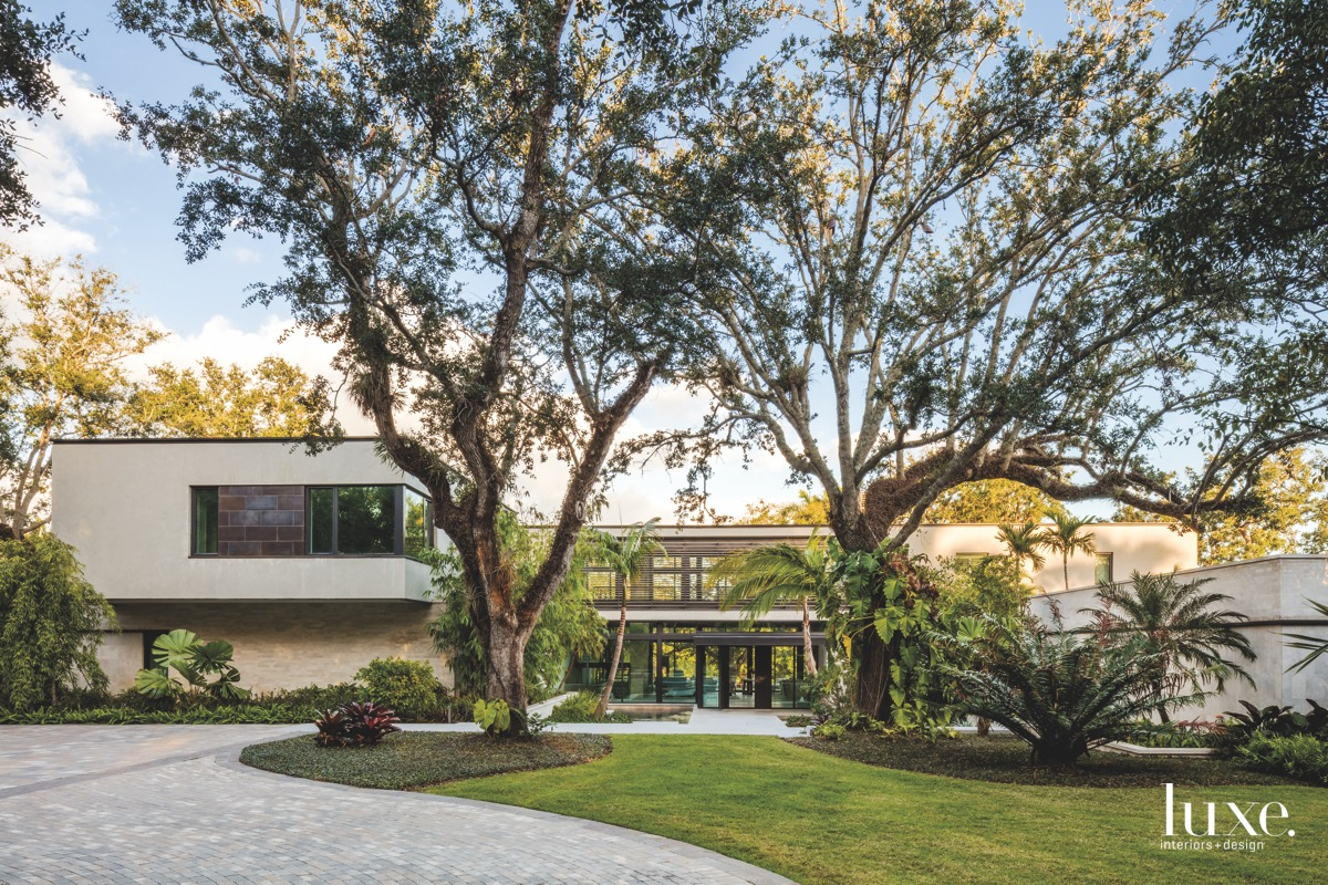modern exterior and landscape