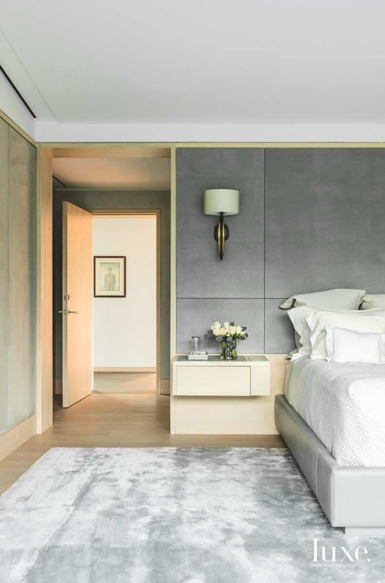modern gray bedroom neutral palette