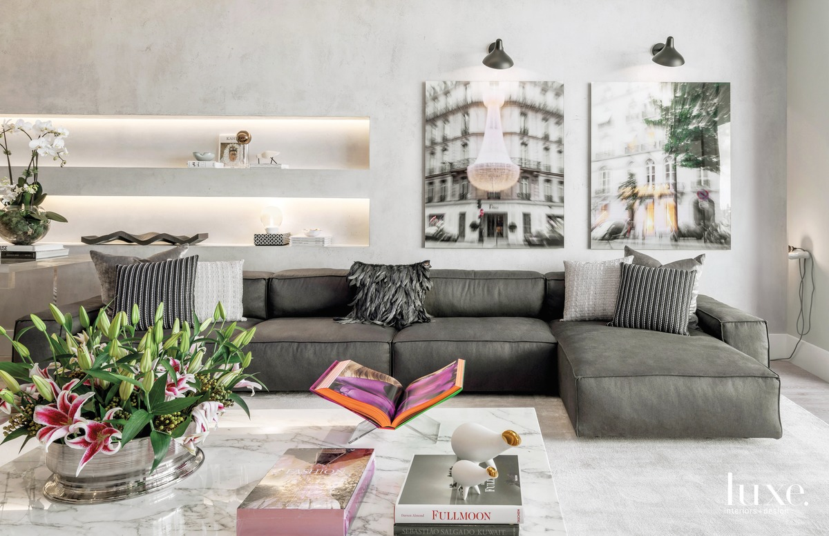 modern gray living room gray...