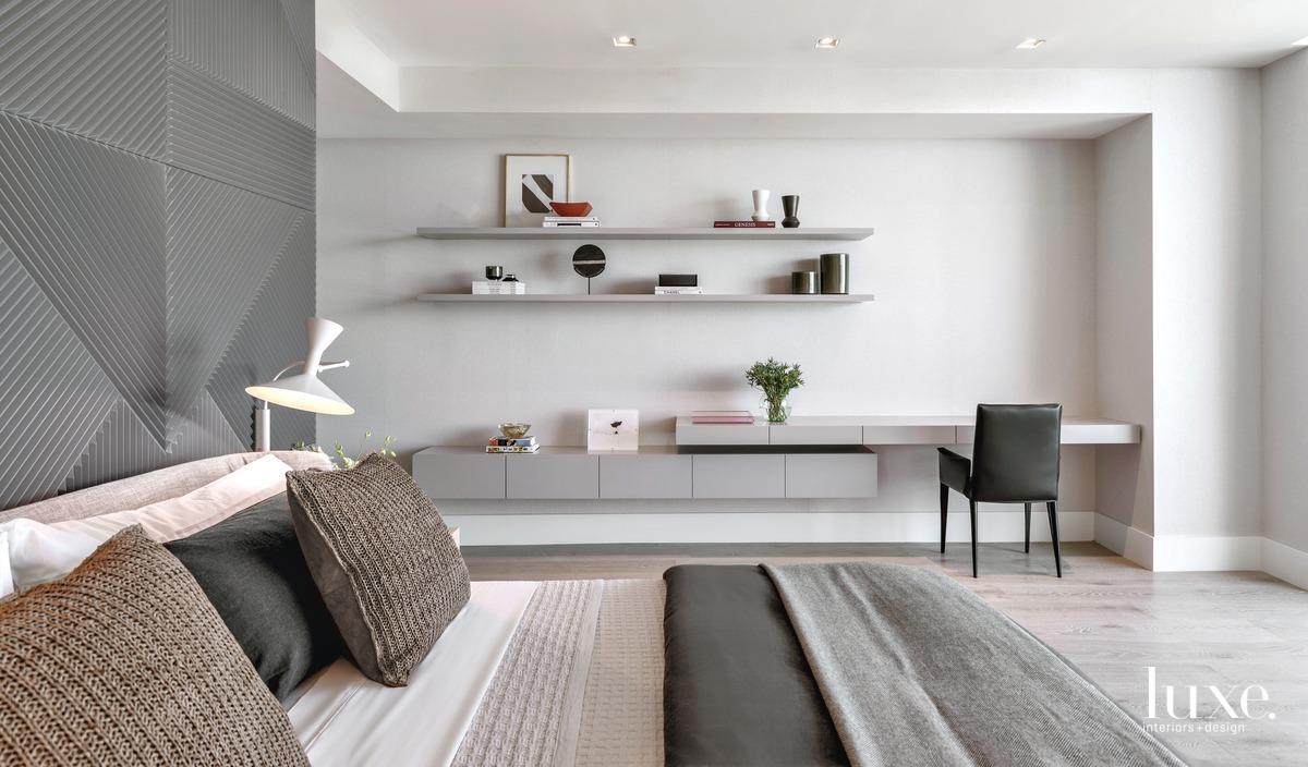 modern bedroom gray palette