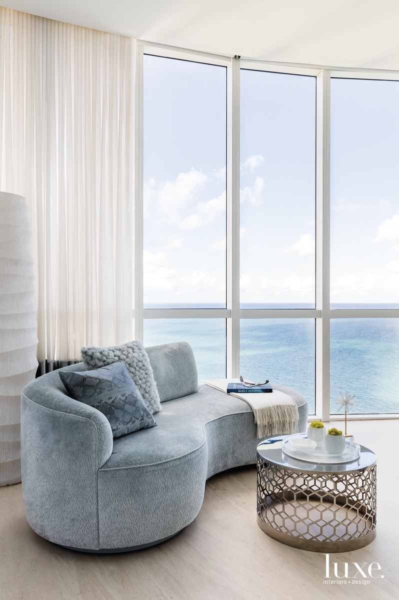 modern sitting area in bedroom...