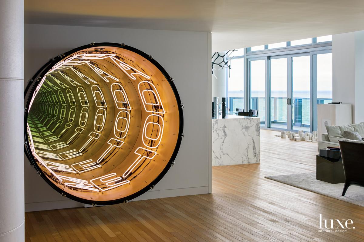modern entry sculpture light