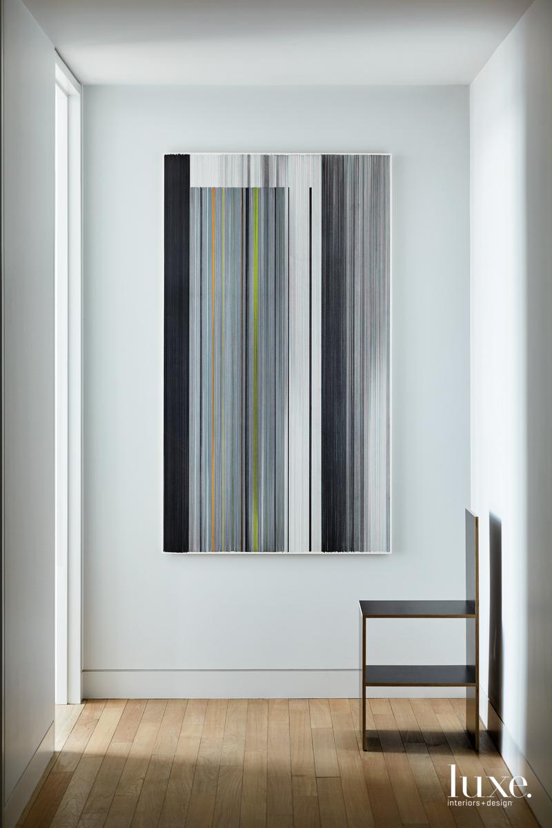 modern hallway sleek chair