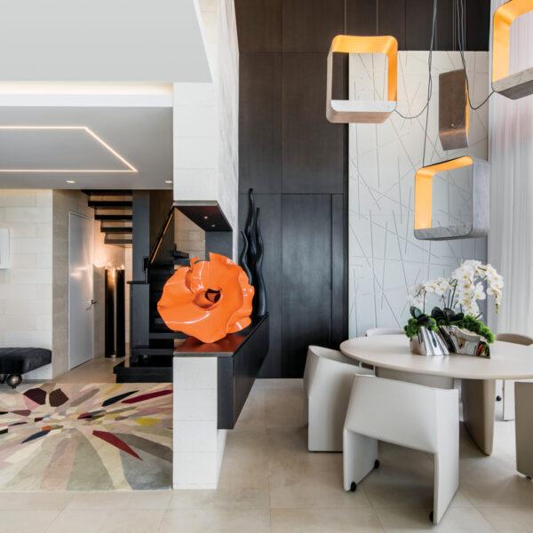 Contemporary Decor Boosts Sculptural Spaces In Miami