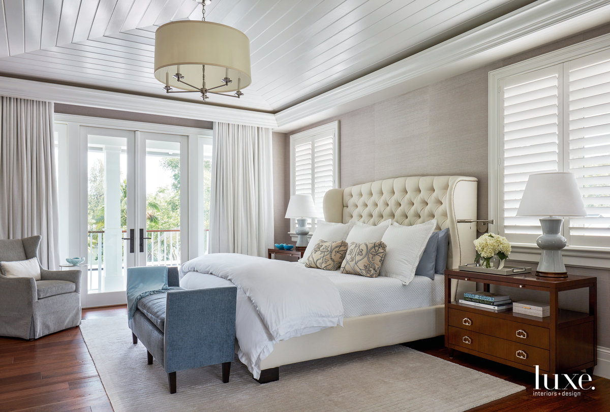 transitional bedroom neutral palette