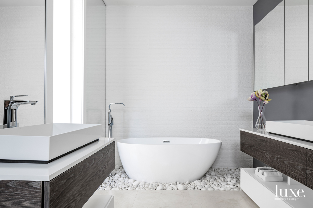 modern white and gray bathroom...