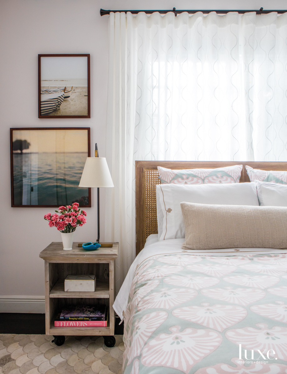 eclectic bedroom neutral palette white