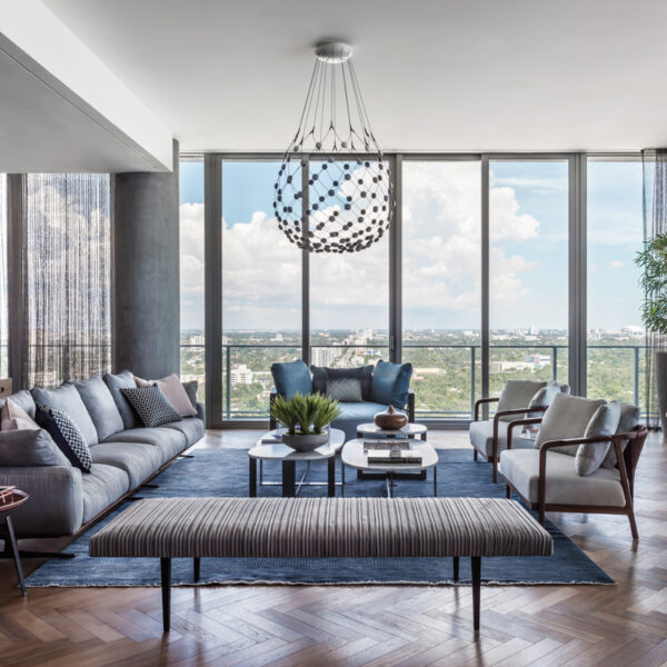 Earthy Materials Warm A Coconut Grove High-Rise