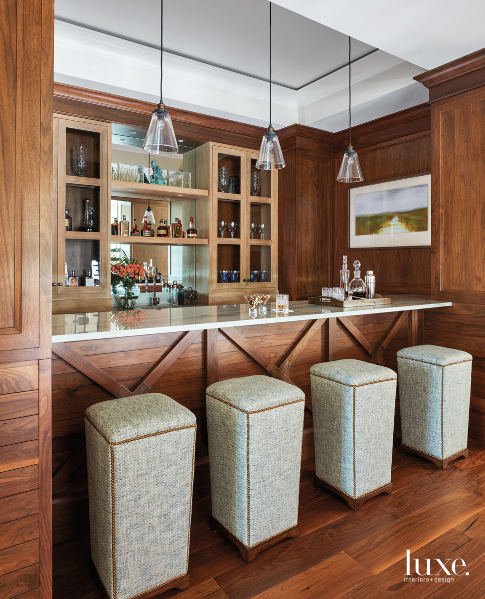 transitional bar by wine room