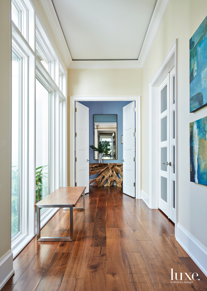 transitional neutral hallway