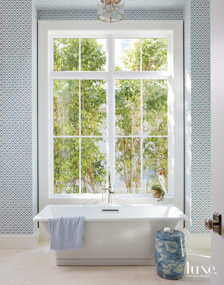 coastal white and blue bathroom
