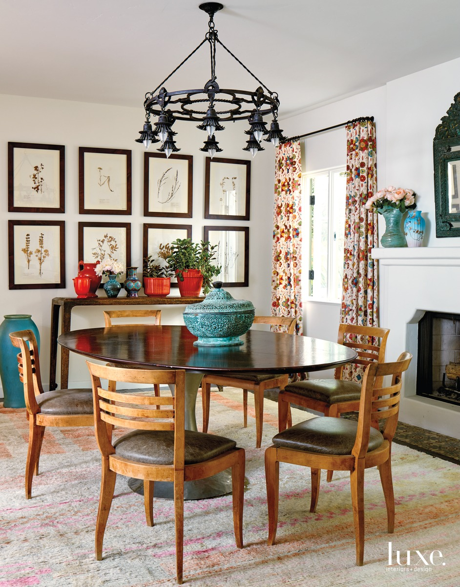 traditional dining room antique brown...