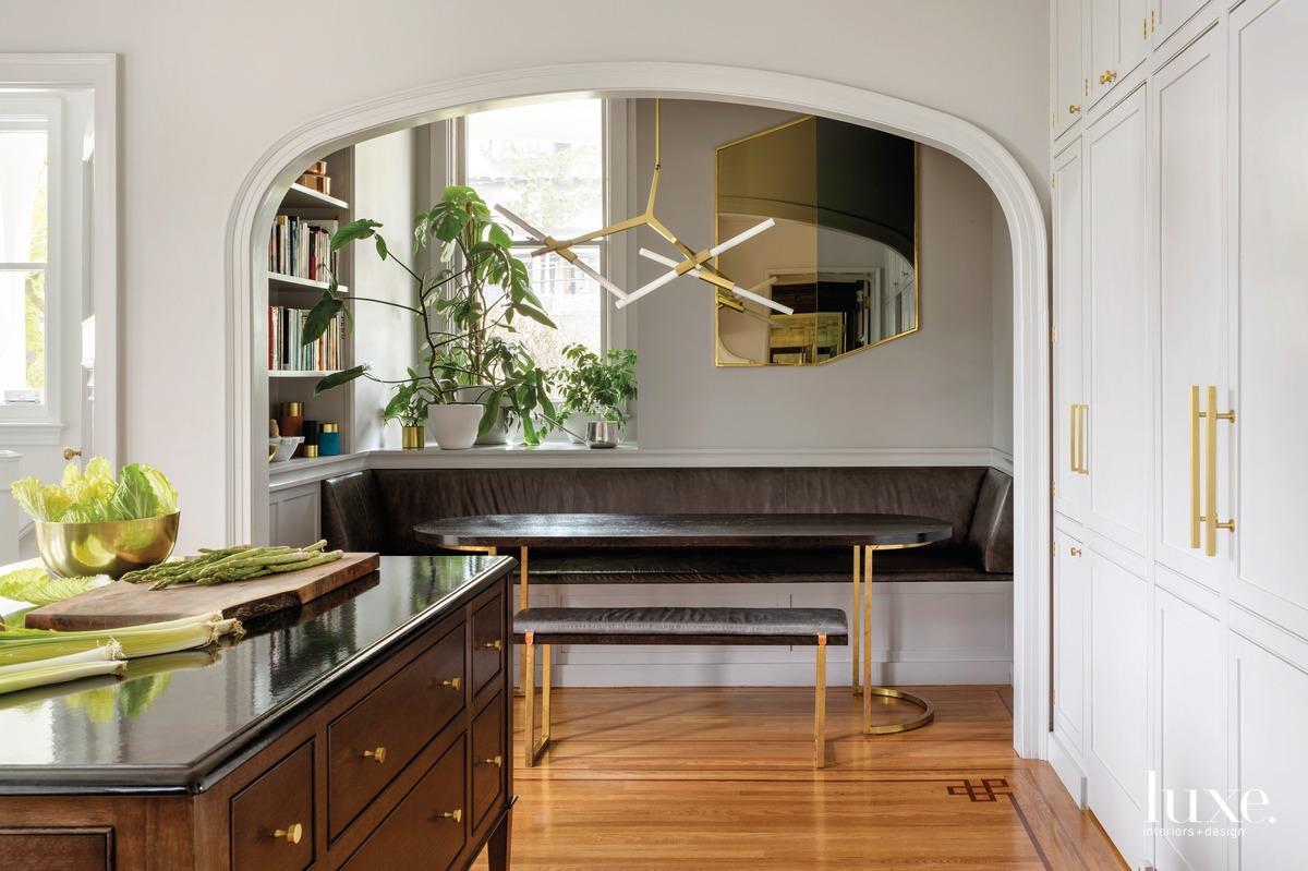 mid-century modern chandelier custom table...