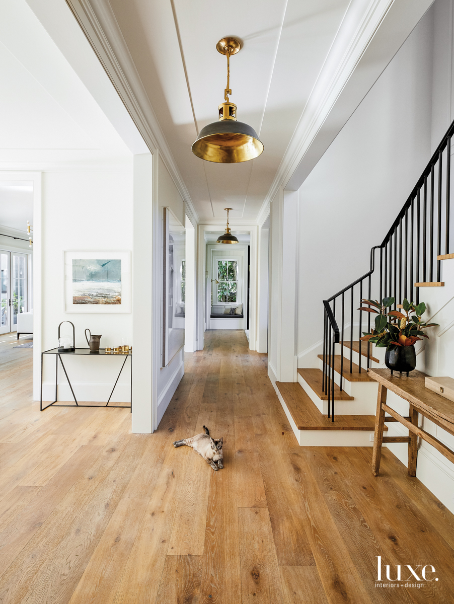contemporary neutral hallway