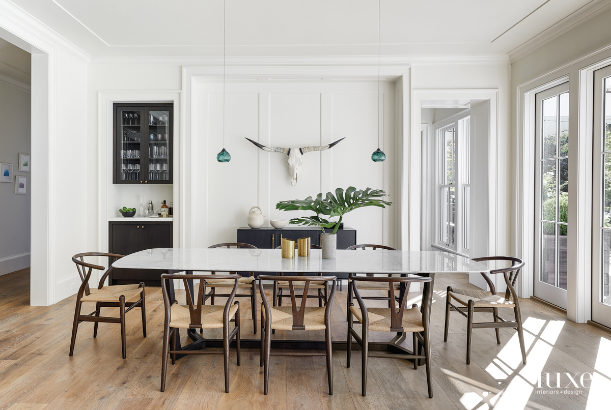 contemporary dining room neutral palette