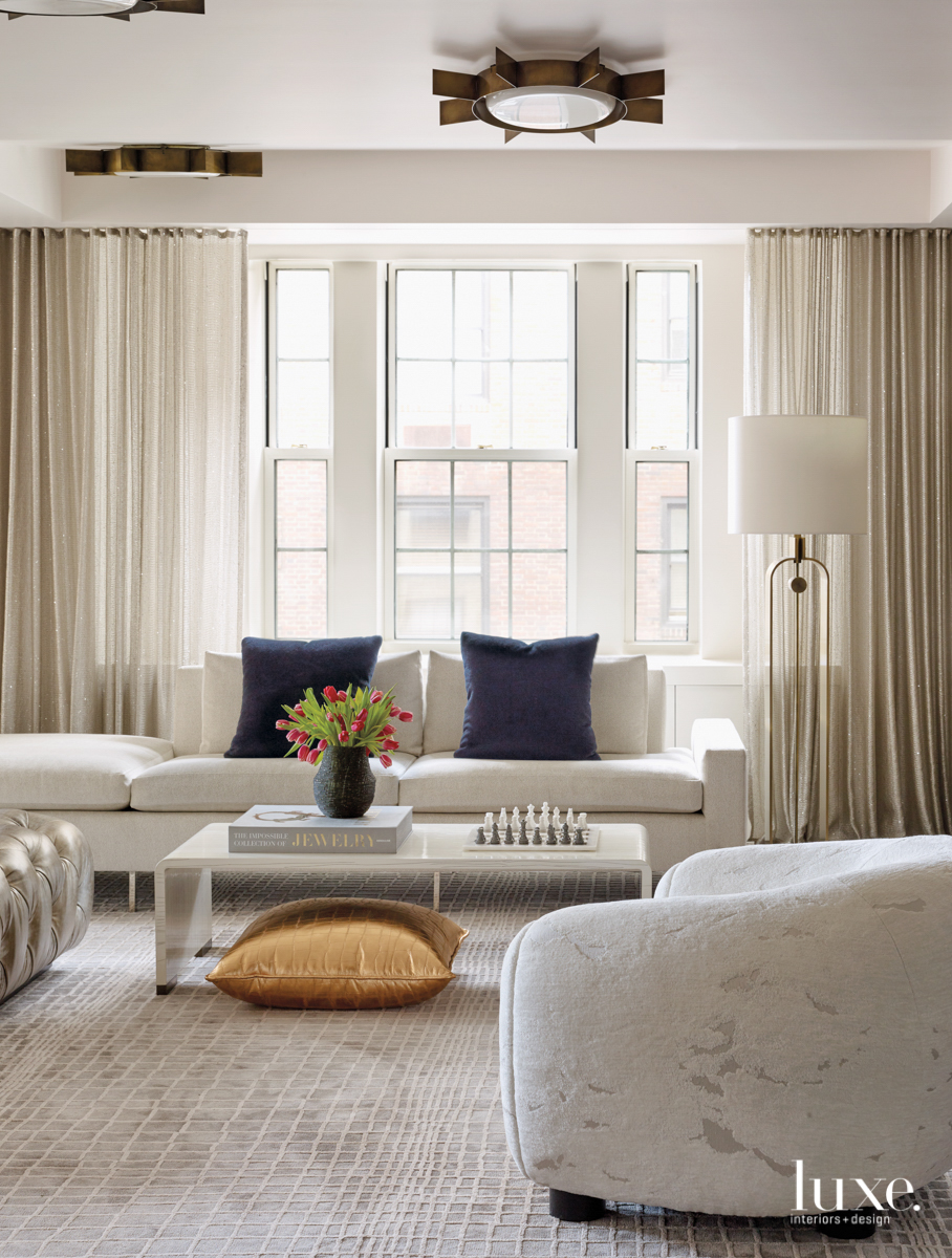 contemporary white neutral living room