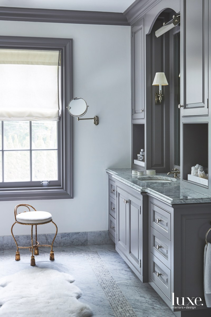 modern gray bathroom vanity