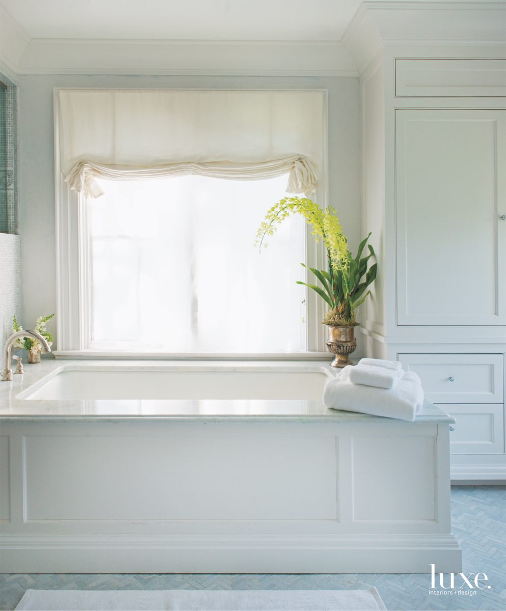 traditional white bathroom pale blue...