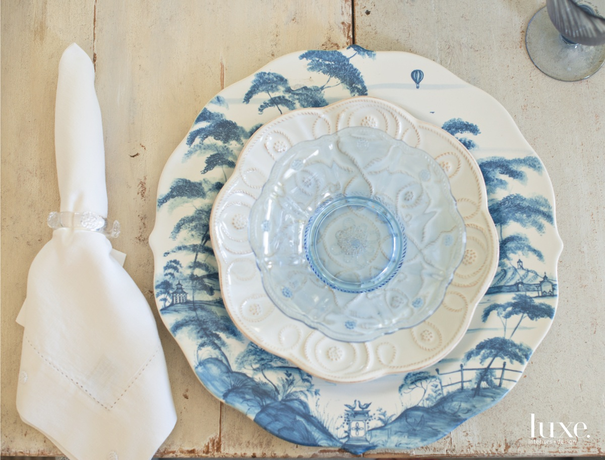 traditional blue and white plates