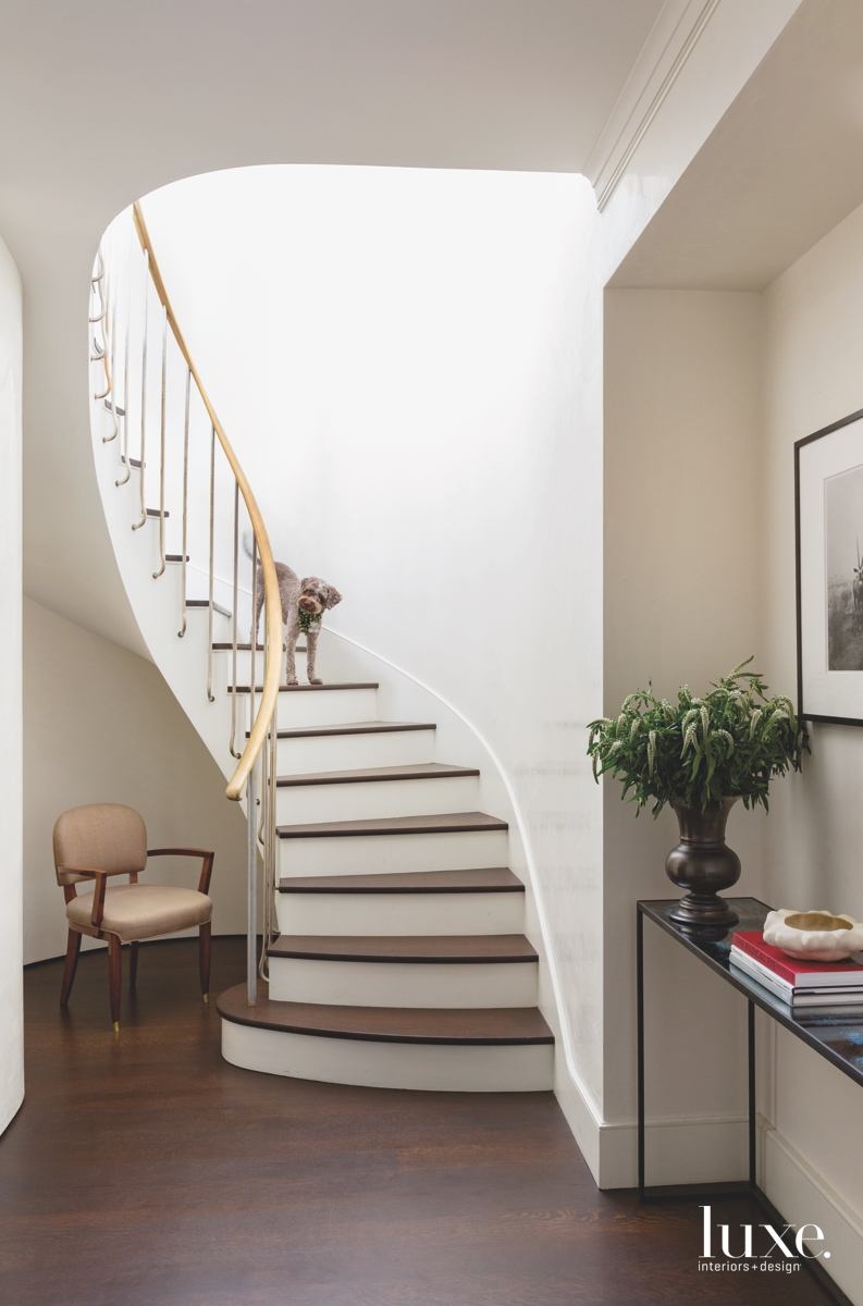 contemporary staircase brown