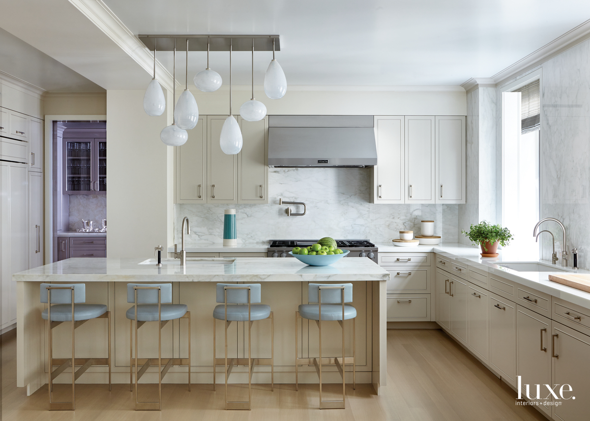 contemporary neutral kitchen pale blue...