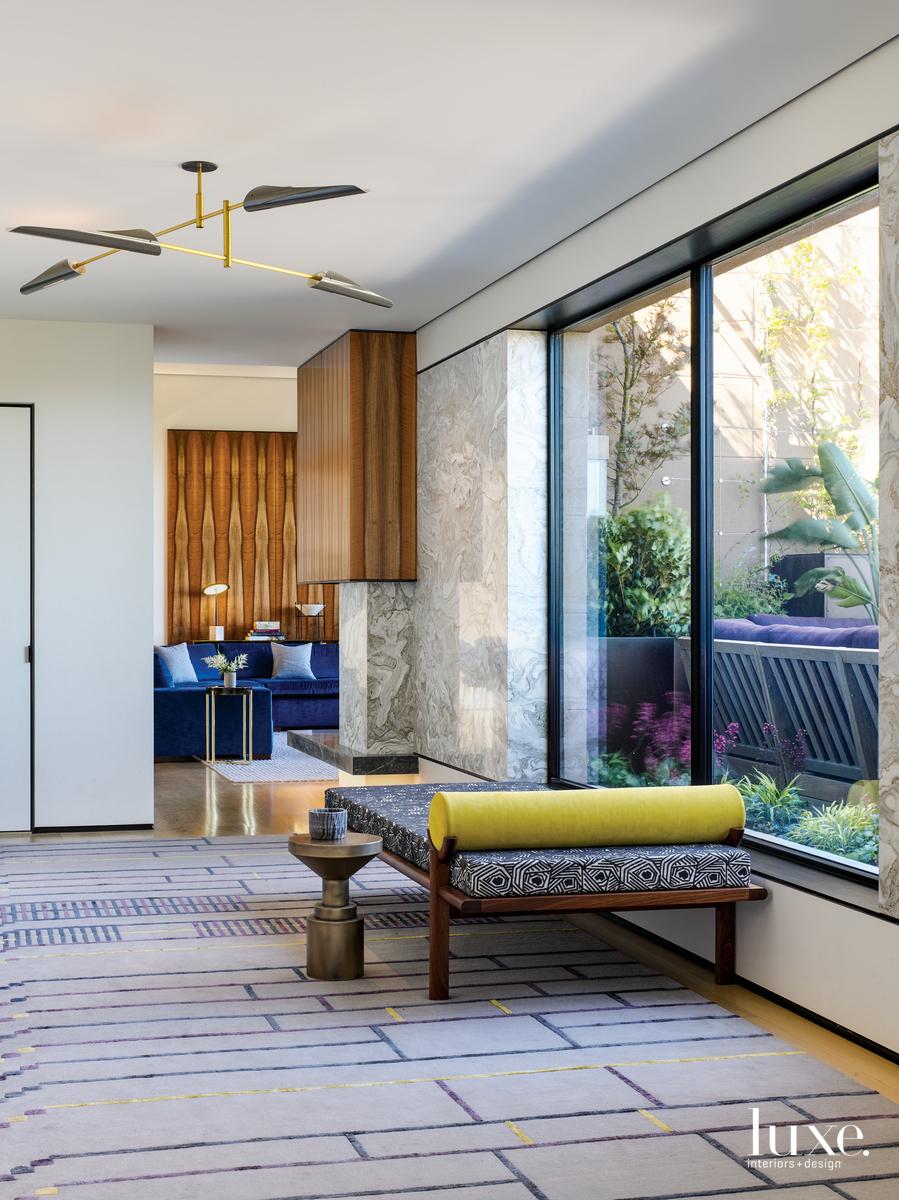 modern entryway multi-color