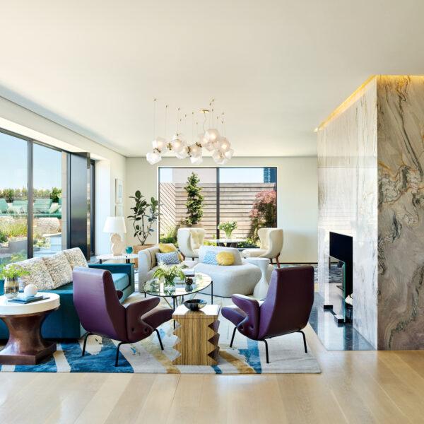 A Manhattan Penthouse Offers Light, Space & Gardens