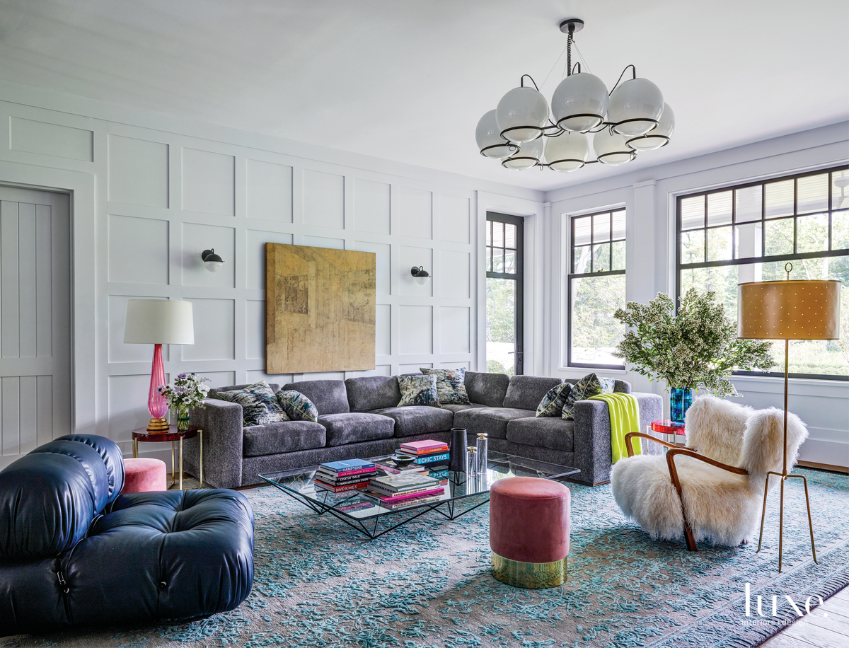 eclectic living room multi-color