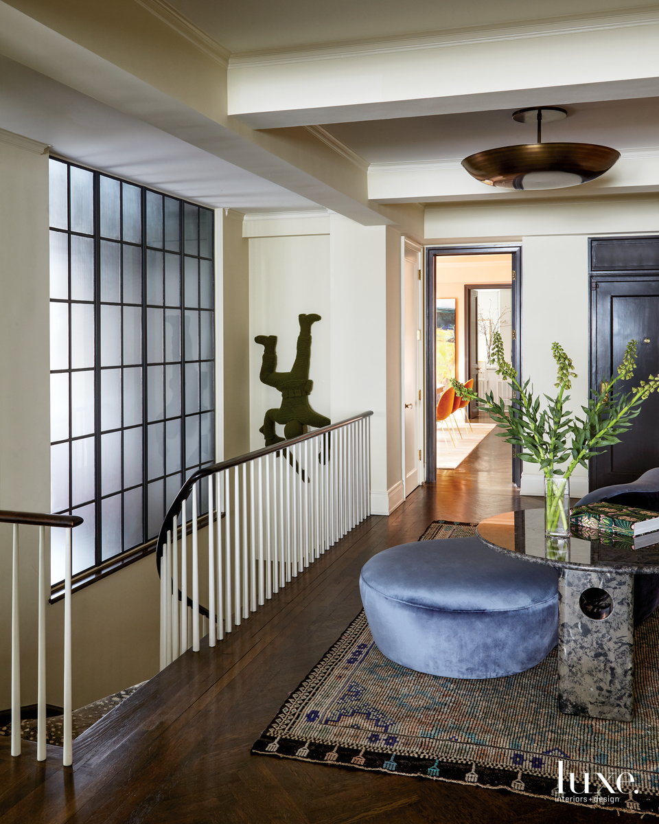 eclectic foyer neutral brown