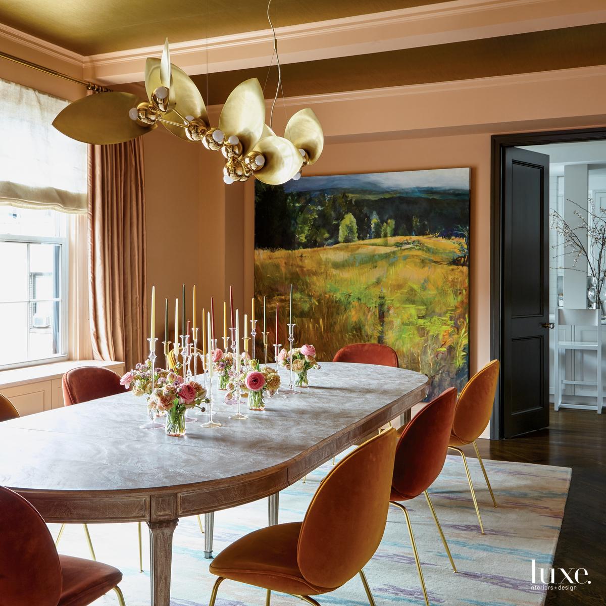 eclectic orange dining room orange...