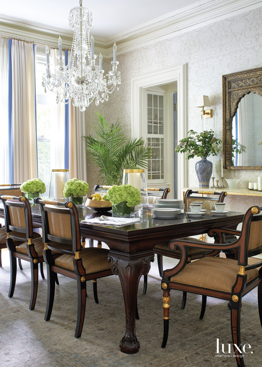transitional dining room neutral palette