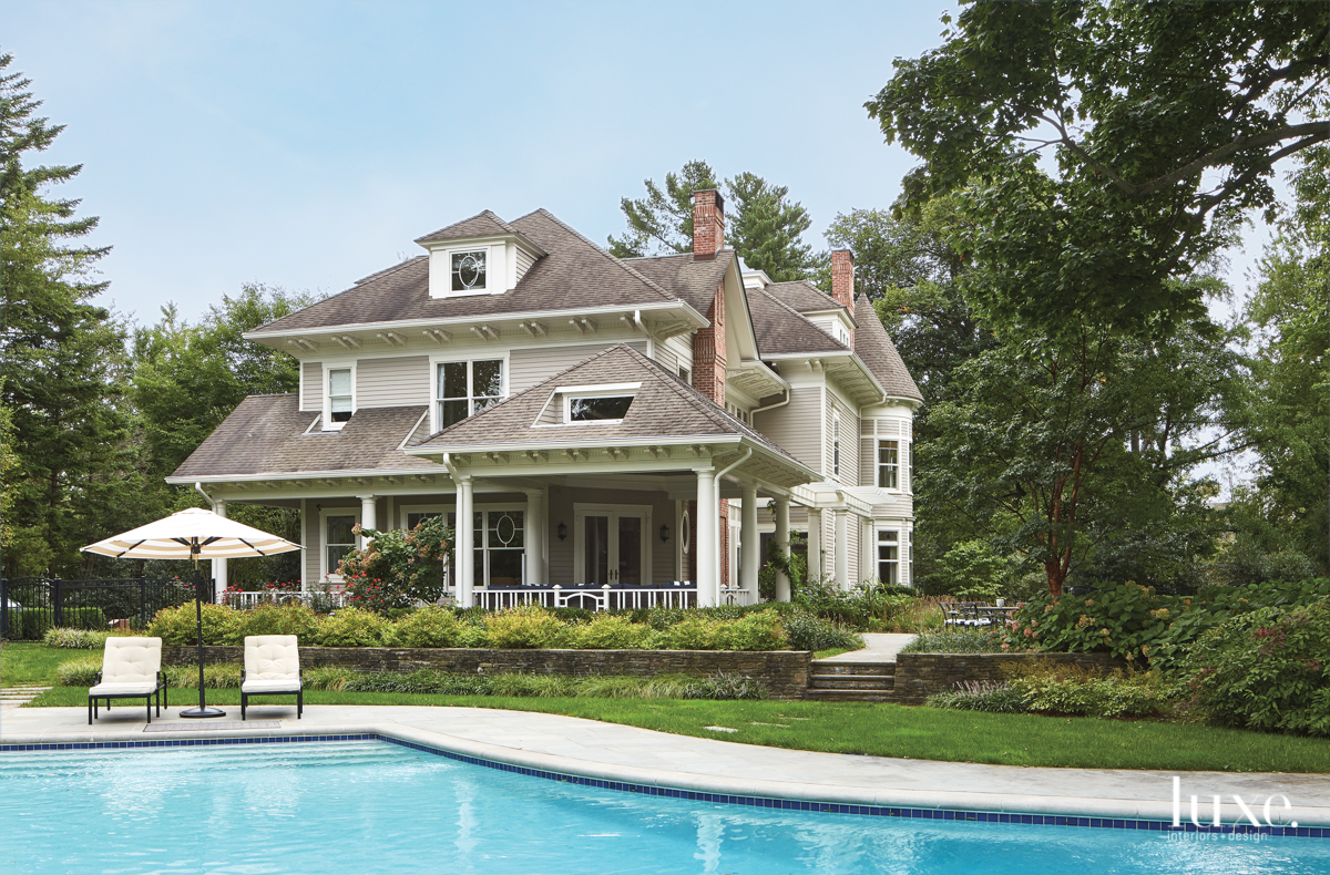 transitional exterior pool
