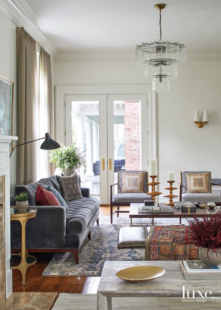 transitional white living room gray...