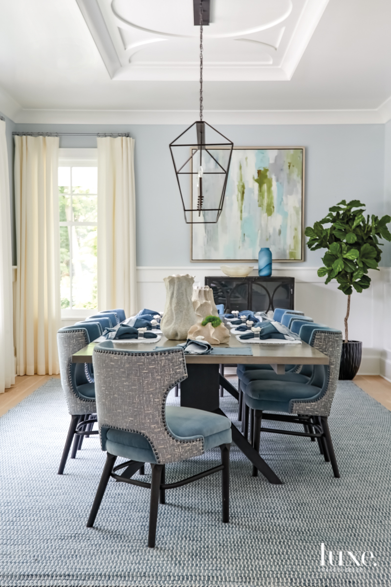 transitional dining rom gray and...
