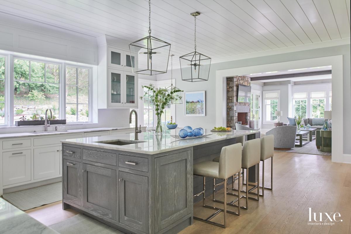 transitional gray kitchen neutral palette