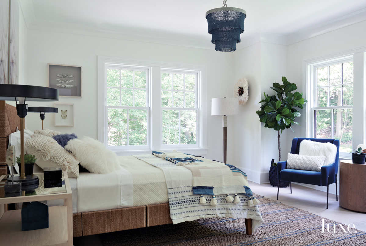 transitional bedroom white with blue...
