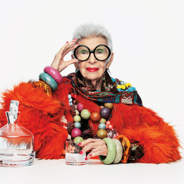 The Scoop On Iris Apfel's Glassware Collaboration