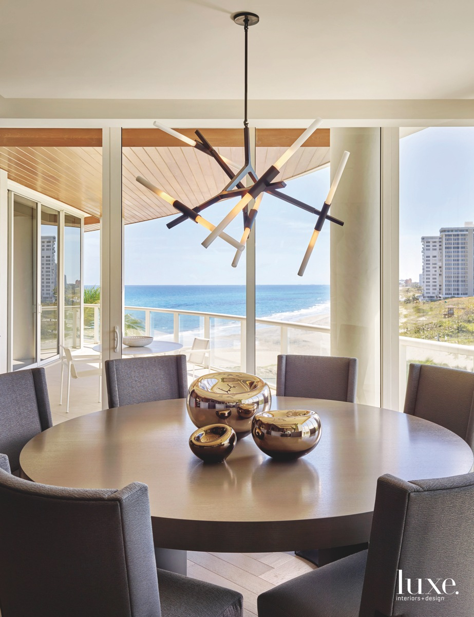 contemporary dining room round table...
