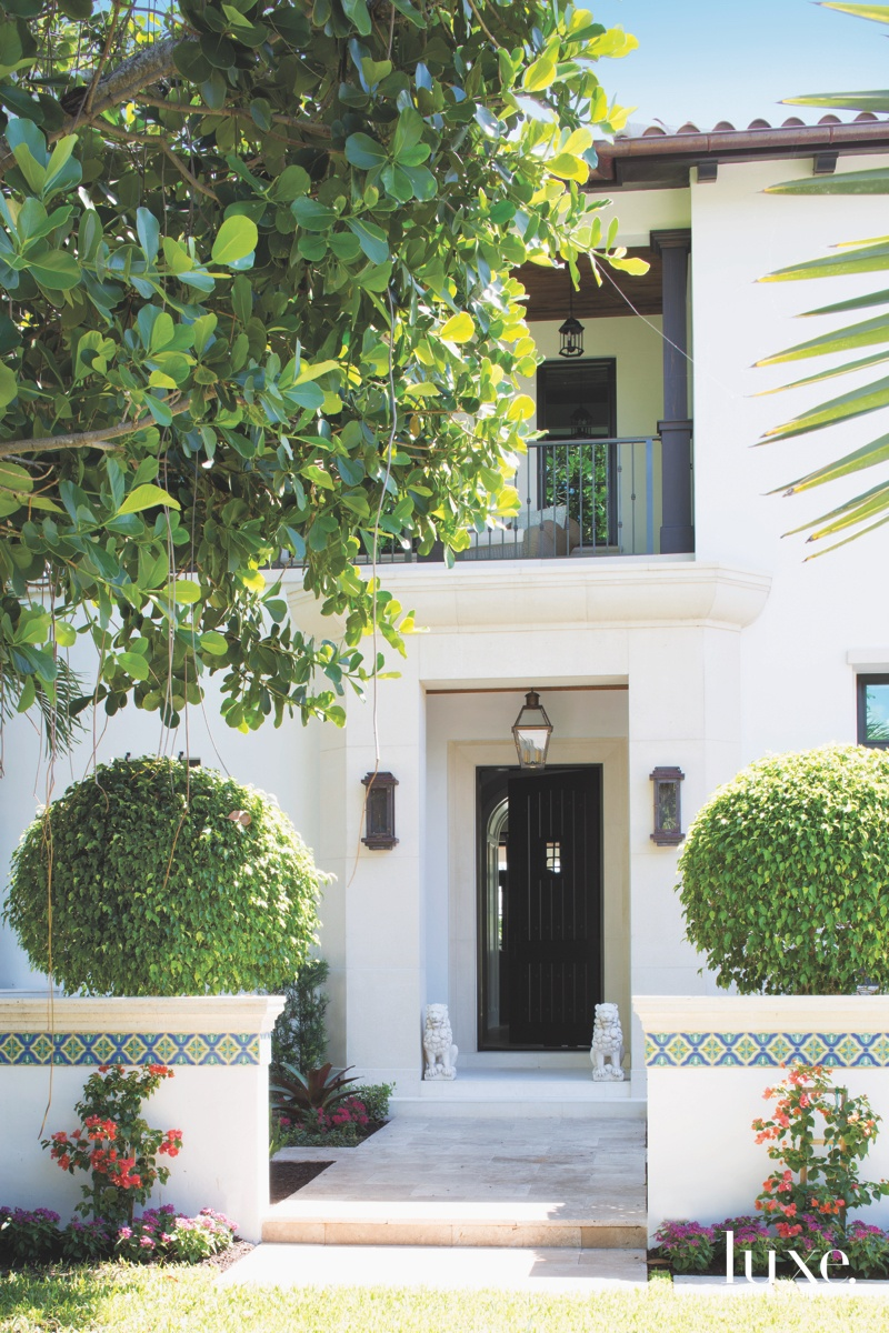 mediterranean white exterior entry black...