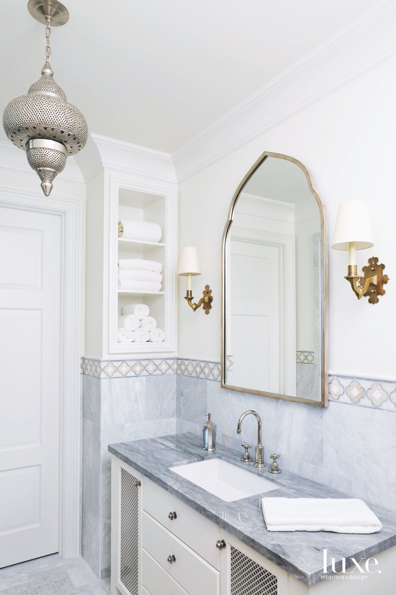 mediterranean bathroom white gray gold...
