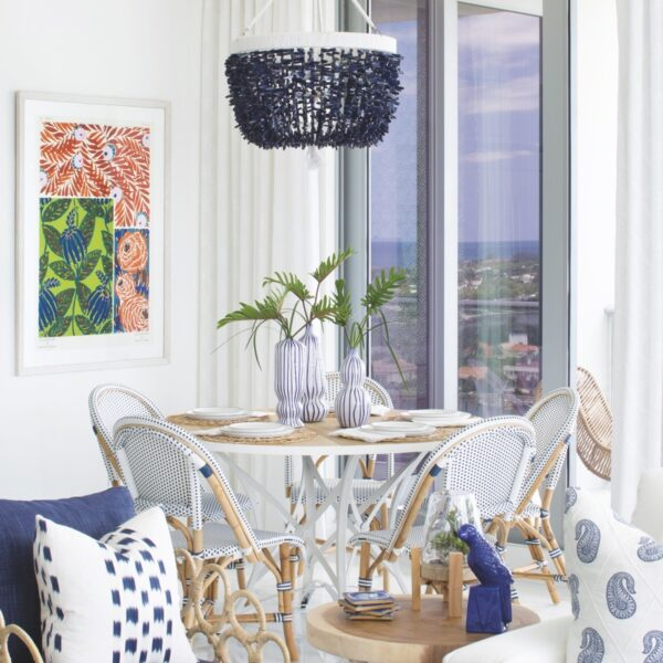 A Florida Condo Goes Coastal With Some Eclectic Flair