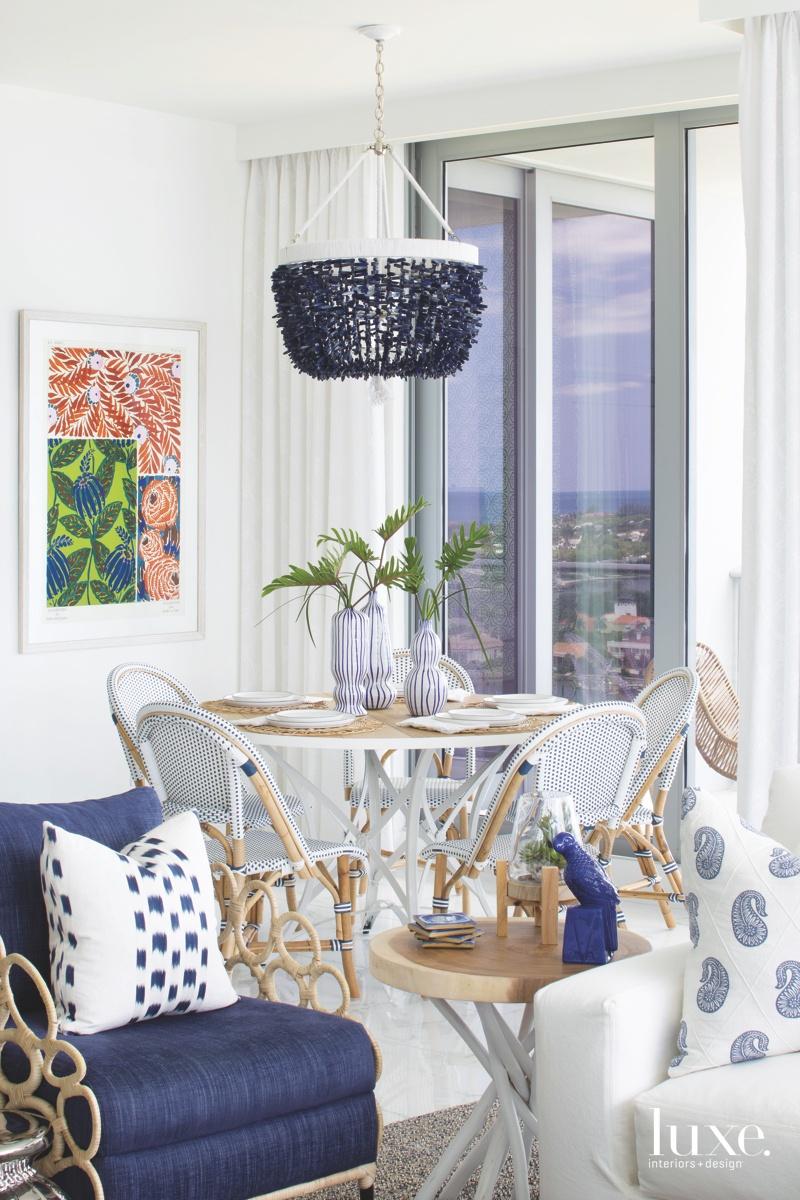 coastal living room rattan chairs...