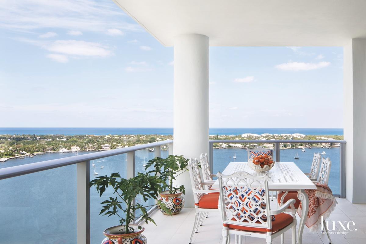 coastal outdoor sitting area terrace