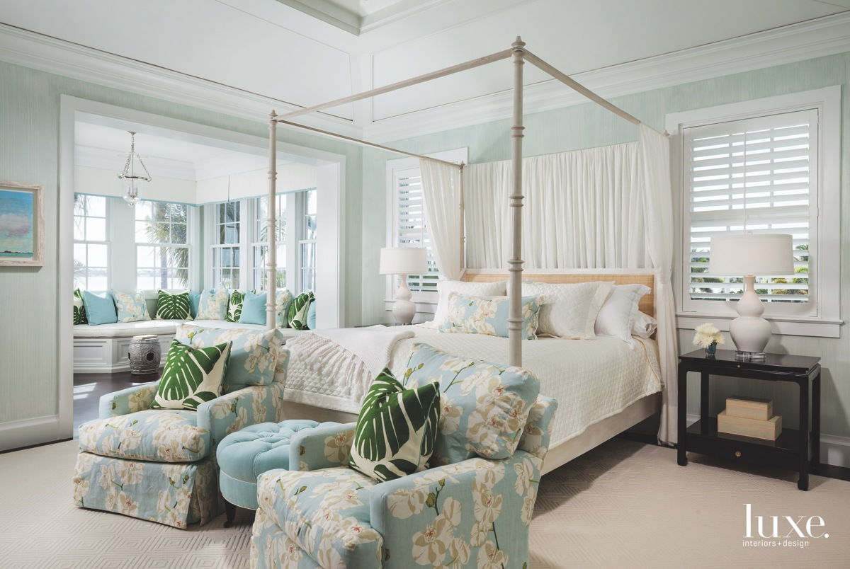 traditional bedroom neutral with blue...