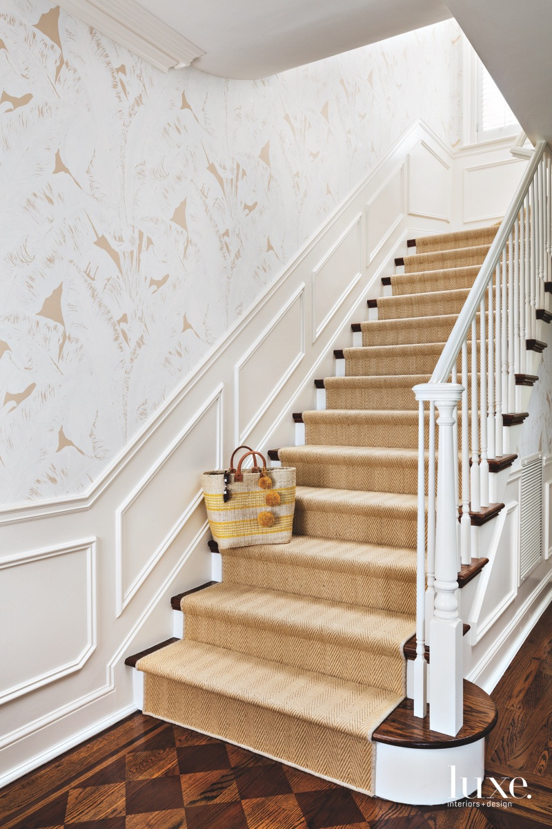 traditional neutral staircase