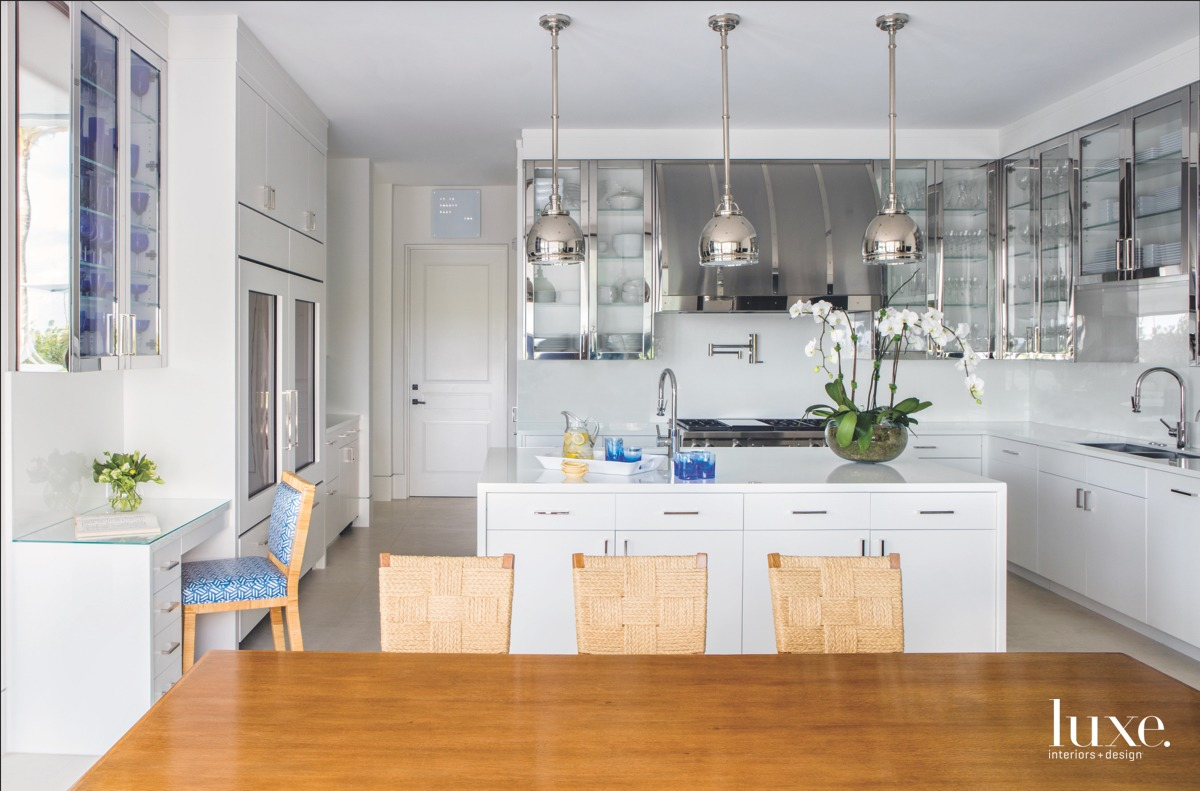 modern kitchen white and stainless-steel...