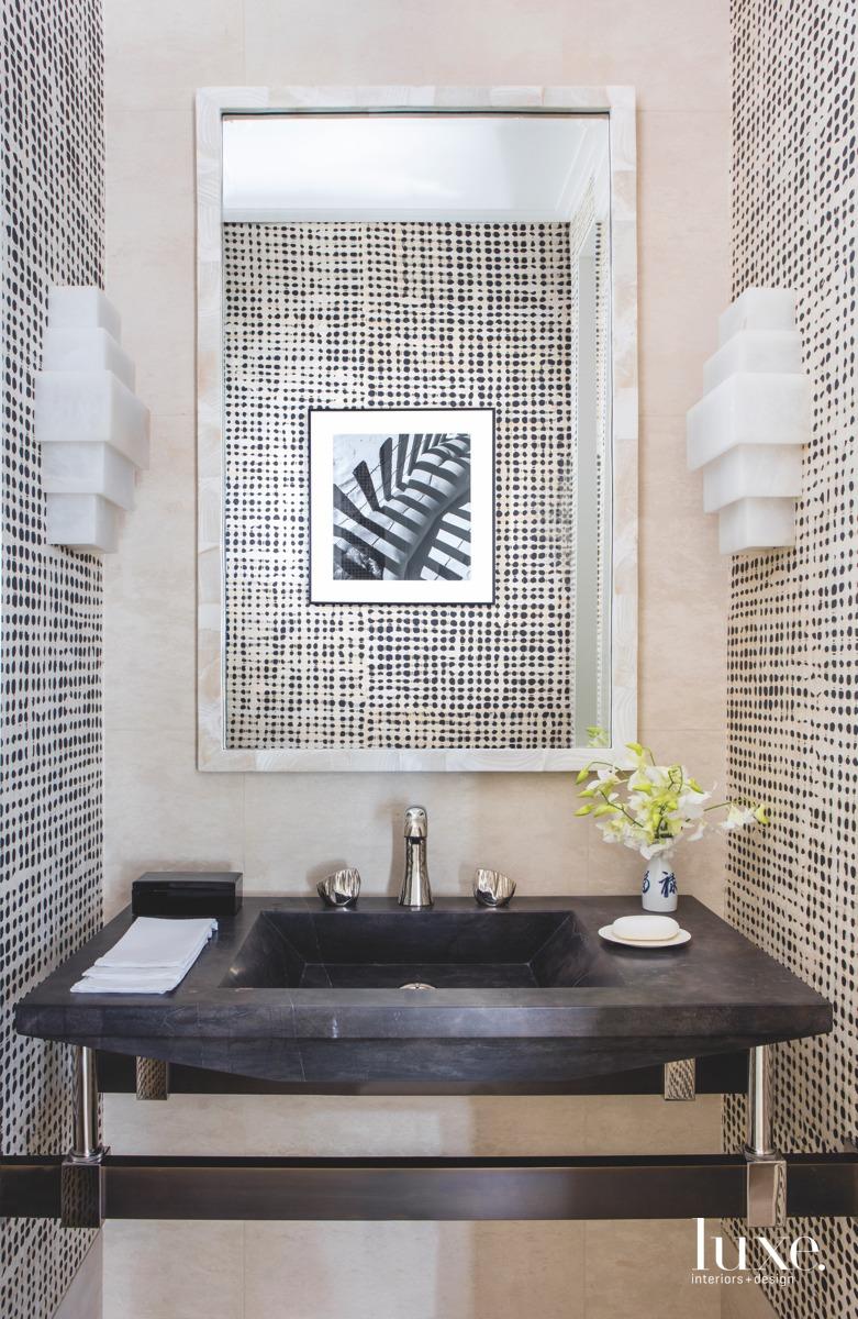 modern bathroom neutral with black...