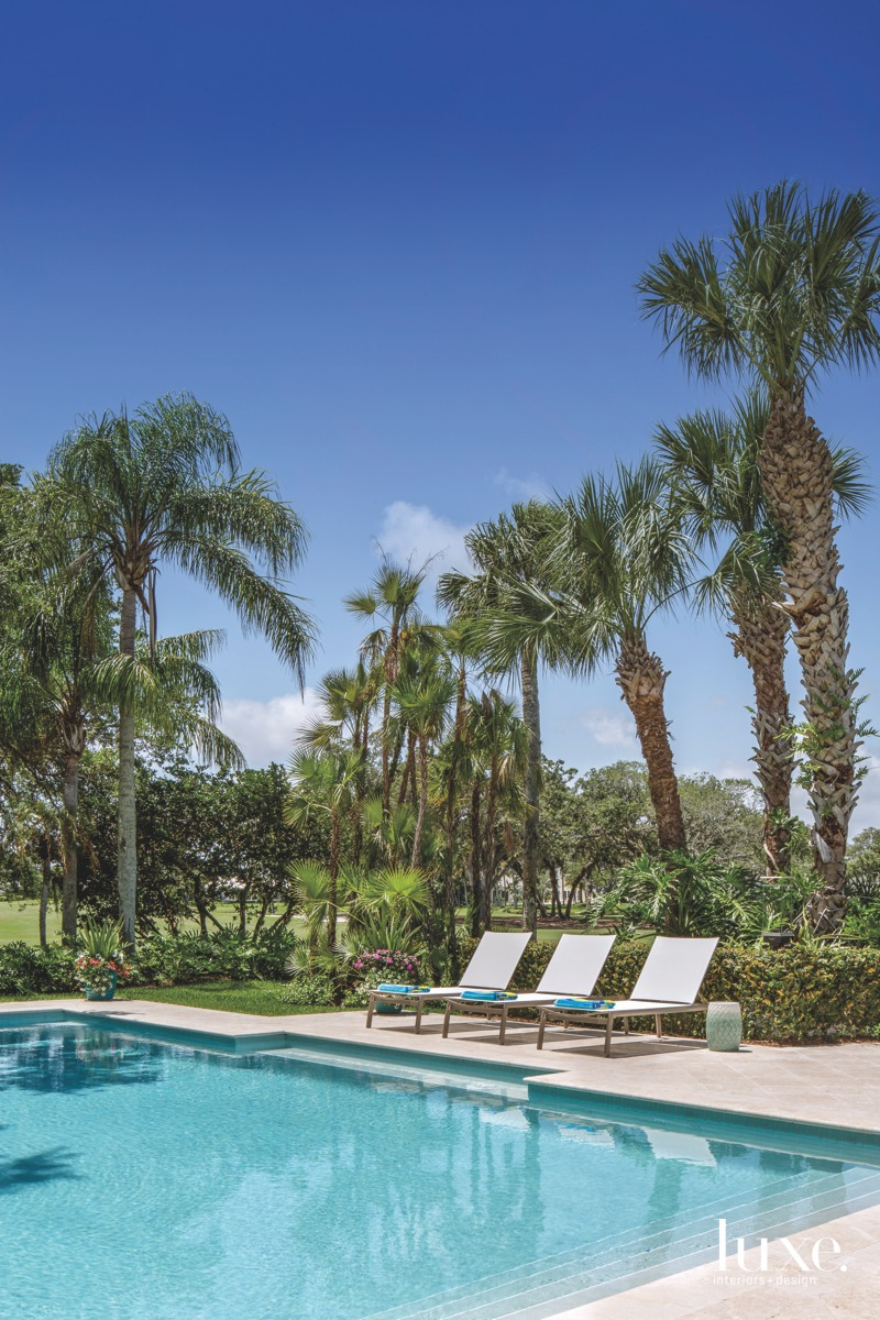 coastal outdoor pool sitting area